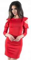 Платье № 3263SN красный (розница 480 грн./490 грн.)