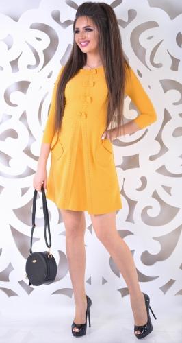 Платье № 3036SN горчица