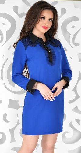 Платье № 3650N ярко синий