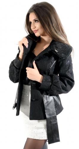 Пальто № 601N черное (розница 464 грн.)