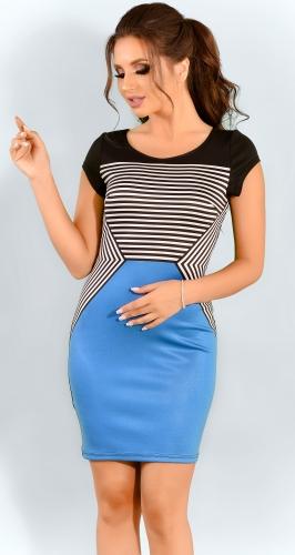 Модное облегающее платье в полоску