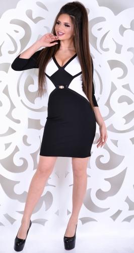 Платье № 1692N белый и черный (розница 495 грн.)
