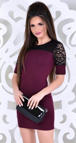 Платье № 3578L марсала