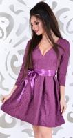 Платье № 30162S баклажан