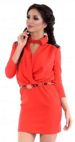 Платье № 3218S красный
