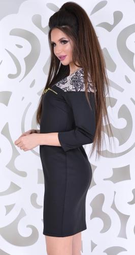 Платье № 1441N кружево на бежевом (розница 500 грн./525 грн.)