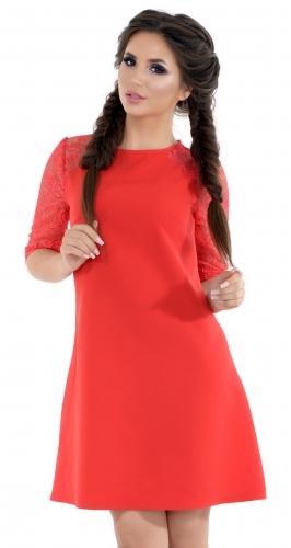 Платье № 1606N красное