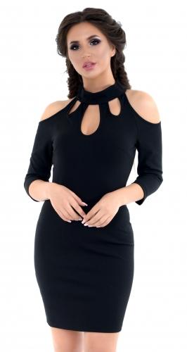 Платье № 1443N черное (розница 470 грн.)