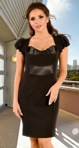 Черное платье-футляр (розница 350 грн.)