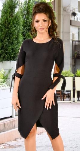 Стильное черное платье с завязками (розница 505 грн.)