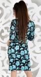 Платье № 869 бирюза цветы