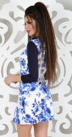 Платье № 3004S  голубая роза