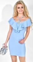 Платье № 3619L голубое