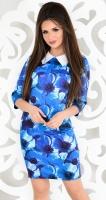 Платье № 13721N синие цветы (розница 607 грн.)