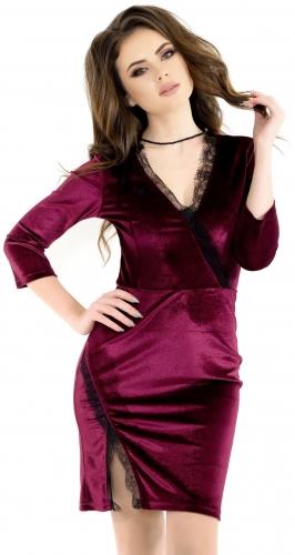 Платье № 3539SN марсала