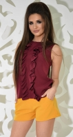 Блуза № 3612L марсала