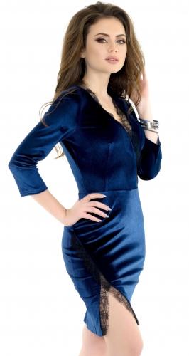 Платье № 3539SN синее