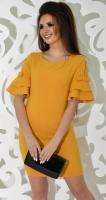 Платье № 3610S горчица