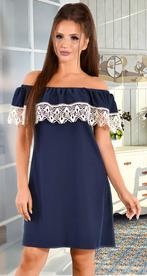 Платье синее с открытыми плечами (розница 515 грн.)