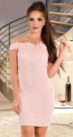 Платье с открытыми плечами розового цвета (розница 520 грн.)