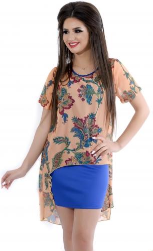 Платье № 1292N восточное персиковое (розница 472 грн.)