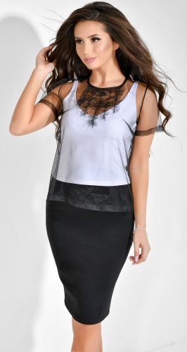 Нежная стильная блуза № 1796L черная