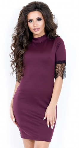 Платье № 1664N марсала (розница 466 грн.)