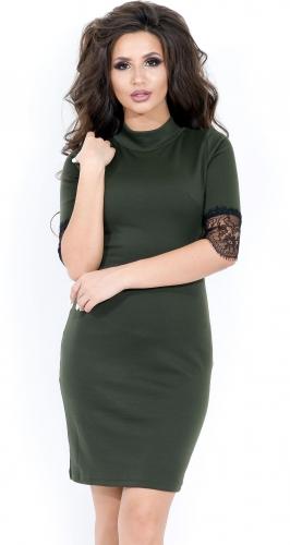 Платье № 1664N хаки (розница 466 грн.)