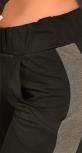 Черный стильный спортивный костюм