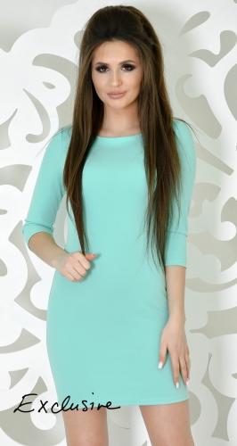 Неординарное коктейльное платье цвета мята