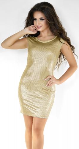 Золотистое коктейльное платье