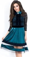 Платье № 3535S бирюза