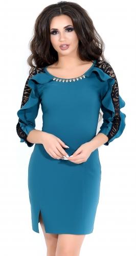Платье № 3534SN изумруд