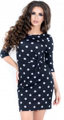 Платье № 1207N горошек