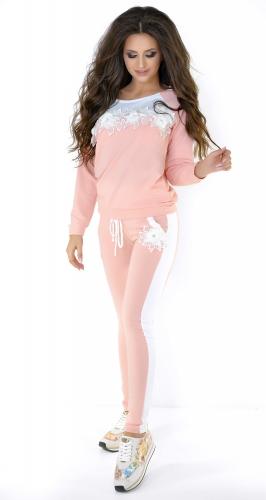 Персиково-белый спортивный костюм