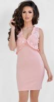 Платье № 3675N пудра