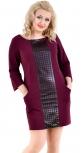 Стильное платье № 35471L марсала