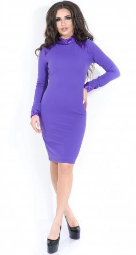 Платье № 13993N фиолет (розница 482 грн.)