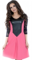 Платье № 1415  розовое