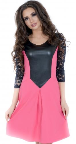 Платье № 1415N розовое (розница 492 грн.)