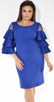 Синее коктейльное платье