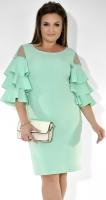 Коктейльное платье цвета мята