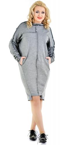Платье № 35581L меланж