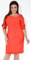 Красивое красное деловое платье