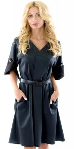 Платье № 3446SN рябой серый