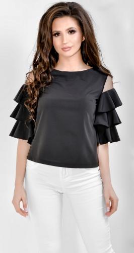 Блуза № 1779SN черная (розница 475 грн.)
