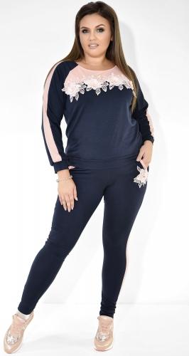 Сине-персиковый спортивный костюм № 3713