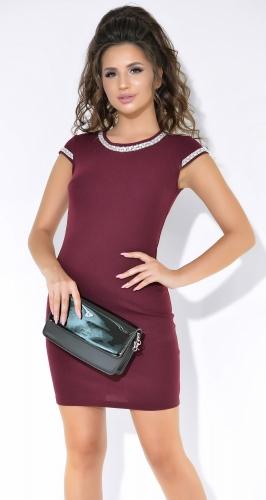 Красивое вечернее платье цвета марсала № 3762