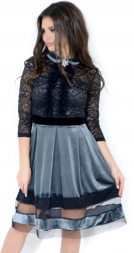 Платье № 3535 серебро