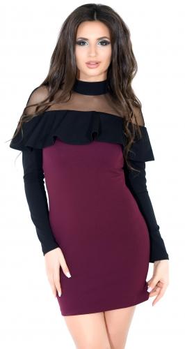 Платье № 32392SN марсала и черное (розница 480 грн.)